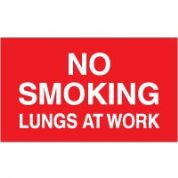No Smoking safety sign - No Smoking Lungs 016